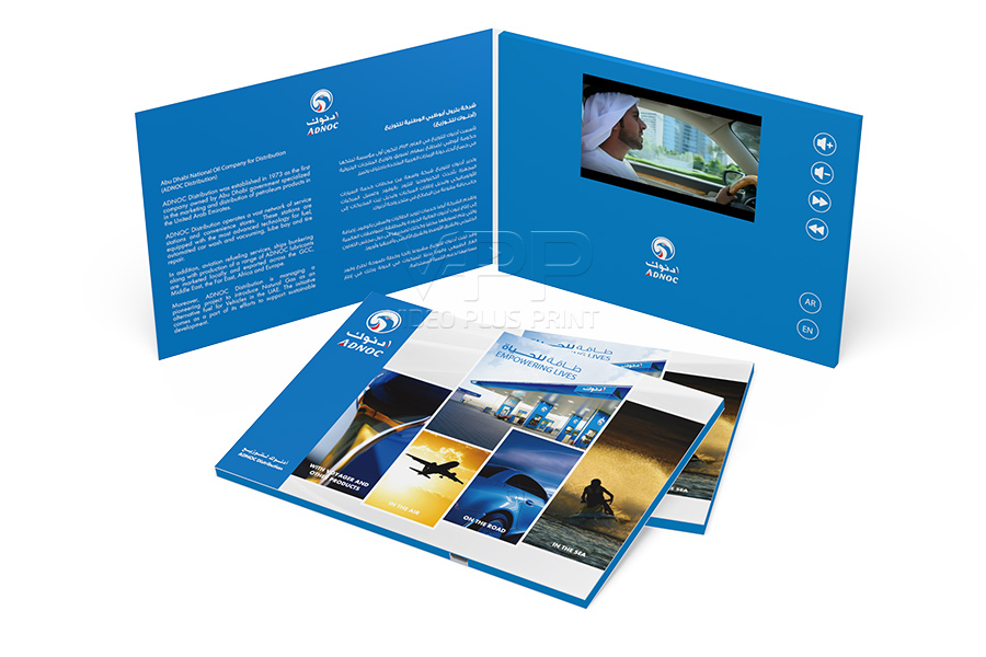 ... Adnoc UAE Video Brochures, Adnoc UAE Video Mailers, Video Direct  Marketing Mailers ...