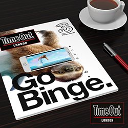 TimeOut London + Three Video-in-Print Magazine