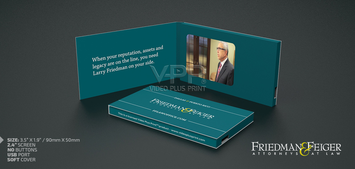 Video business cards from us12 video in a business card friedman feiger reheart Images