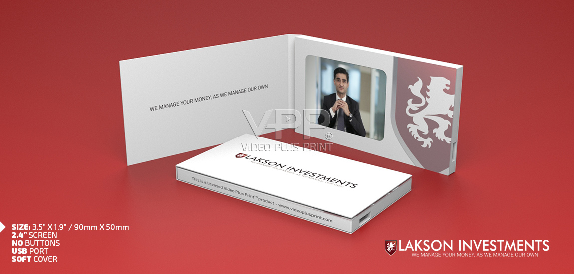 Video Business Card, Video Visiting Card, LCD Business Card